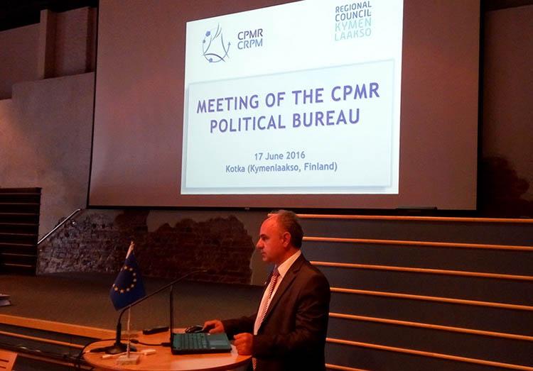 2016.06.16-18 @ Συνεδρίαση του πολιτικού Γραφείου της CPMR (Διάσκεψη των Παράκτιων Περιφερειών της Ευρώπης) στο Κότκα Φιλανδίας