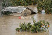 Πλημμύρισε η κοιλάδα του Αλφειού - Ανοιχτά τα θυροφράγματα στο Φλόκα