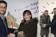 Πωλίνα Γκουτζουρή και Γιάννης Χαραλαμπόπουλος στο πλευρό του Γιάννη Λέντζα