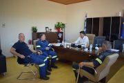 Εθιμοτυπική επίσκεψη στον Δήμαρχο Ανδραβίδας-Κυλλήνης από τον Διοικητή Πυροσβεστικής Υπηρεσίας Πύργου