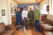 Εθιμοτυπική επίσκεψη Γ. Λέντζα στον Διοικητή της 117ΠΜ Ανδραβίδας - Ξενάγηση του δημάρχου στις εγκαταστάσεις του αεροδρομίου