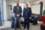 Στον Περιφερειάρχη Δυτικής Ελλάδας Νεκτάριο Φαρμάκη ο νέος Γενικός Περιφερειακός Αστυνομικός Διευθυντής Απόστολος Μαρτζάκλης